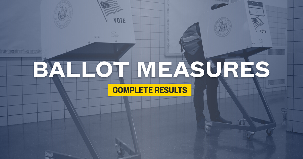 Ballot measure results 2020: Propositions and initiatives in each state